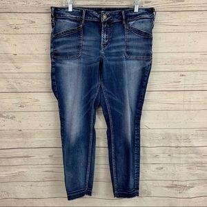 Silver Jeans suki skinny heavy stitch mid ankle